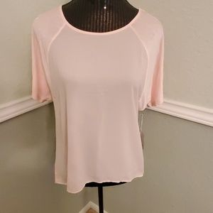 NWT FOREVER 21 Contemporary mixed media top